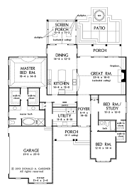 Donald Gardner Floor Plans Craftsman Style House Plan 3 Beds 2 Baths 2291 Sq Ft Plan 929