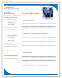 Resumes Free Templates Resume Templates Word Free Microsoft Marketing Student Resume