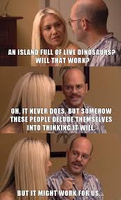 Arrested Development Memes - funny arrested development jurassic world trailer meme