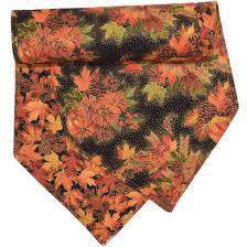 54 inch table runner table runners fall wreath and leaf print 54 inch table runner at