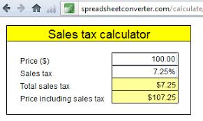 create a simple sales tax calculator spreadsheetconverter
