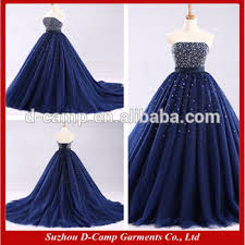 bling wedding dresses wd300 strapless beaded fitted bodice royal blue wedding dresses