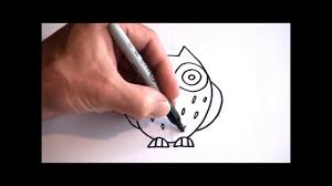 cute toons how to draw a cartoon owl youtube