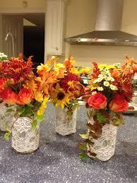 Mason Jars Wedding Centerpieces by Mason Jar Wedding Centerpieces Mason Jar Centerpiece With Fall