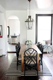 Bamboo Dining Room Chairs I Like The Light Wood Table With The Black Chairs Warm But Light