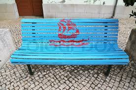 Old Park Benches Nautical Ship Caravel Old Sailboat Painted Park Bench Street