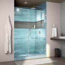 Non Glass Shower Doors Dreamline Unidoor 45 48 In Frameless Hinged Shower Door Non