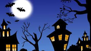 wallpapers halloween hd trees house night halloween hd wallpaper 10584