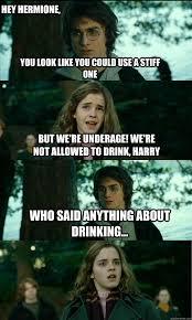 Underage Drinking Meme - horny harry memes quickmeme