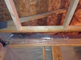 what is correct vapour barrier method for bathroom ceiling in a