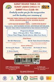 Inauguration Invitation Card Sample Surat Round Table 135 And Ladies Circle 72 Pattal