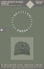 auburn chi omega spring hat cactus b unlimited custom