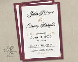wedding invitations burgundy blush gold purple invites