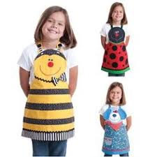 and yellow ladybug childrens apron by sewcharlene on etsy