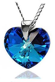 swarovski heart necklace blue images Sterling silver 925 small eternal love luxe blue heart pendant jpg