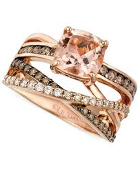 levian engagement rings le vian morganite 1 3 4 ct t w and diamond 3 4 ct t w