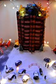 pictures with lights behind them nakatomi gingerbread tower flames created using melted sugar with