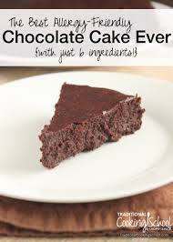 the best allergy friendly chocolate cake ever with just 6