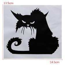 halloween scary black cat glass sticker halloween decor alex nld halloween scary black cat glass sticker halloween decor