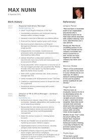 Air Force Resume Samples by Regional Operations Manager Resume Samples Visualcv Resume