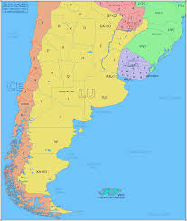 Physical Map South America by Amateur Radio Prefix Map Of Southern South America