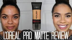 l u0027oreal pro matte foundation oily skin diaries samantha jane