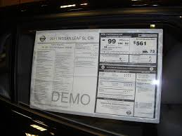 nissan leaf electric car price nissan leaf sl cw demo sticker price