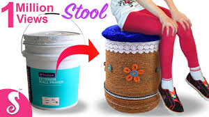 home decor ideas from waste make sitting stool from reusing waste paint bucket best out of