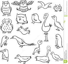 cartoon drawing birds stock photo image 38077910