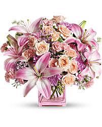 teleflora u0027s possibly pink flower arrangement teleflora