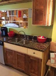 granite countertop rustic kitchen sinks sink faucet repair