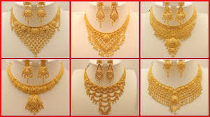 golden necklace designs images Pure 22k gold necklace designs images 2017 beautiful gold jpg