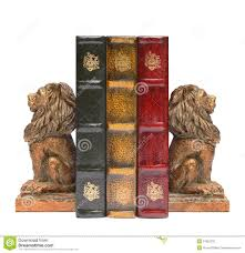 lion bookends lion bookends and antique books stock photo image 51952232