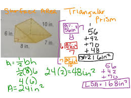 surface area of triangular prism math geometry surface area