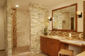 Bathroom Chairs Looking Good Bath Mat Natural Stones Tiles Perfecting Wall