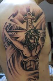 72 stylish jesus tattoos for shoulder