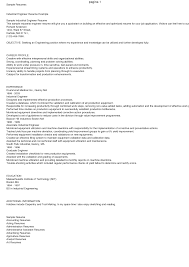 Mit Sample Resume by Industrial Engineering Resume Virtren Com