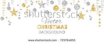 banner sparkling glitter ornaments stock vector
