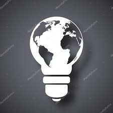 World Map Icon by Light Bulb Icon With World Map U2014 Stock Vector Realvector 59281273