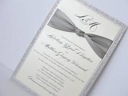 silver wedding invitations lace wedding invitation