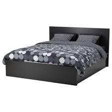 malm ottoman bed black brown standard double ikea