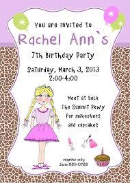 birthday invites breathtaking 7th birthday invitation wording