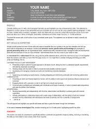 Resume Profile Section Resume Availability Section Free Resume Example And Writing Download