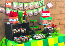 minecraft birthday party minecraft birthday party idea popsugar