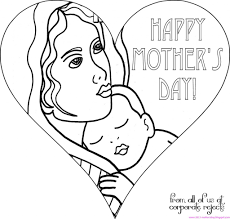 funny mothers day coloring pages