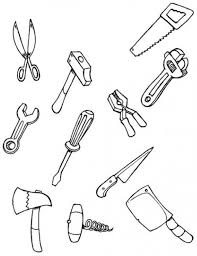Color Each Tool Coloring Pages Hellokids Com Tools Coloring Page
