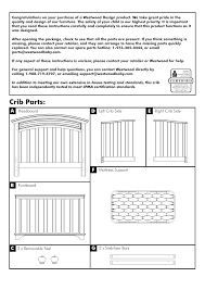 Westwood Convertible Crib Crib Parts Westwood Design Geneva Convertible Crib User Manual