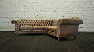 Chesterfield Tufted Leather Sofa Ashley Cowan Sectional Brown Leather Sofa Living Room Reclining