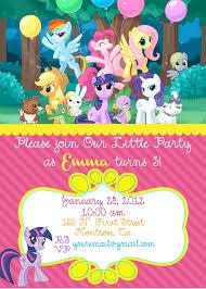birthday invites latest my little pony birthday invitations