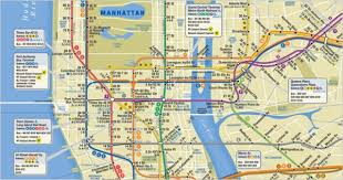 map of new york and manhattan a more cheerful new york subway map the new york times